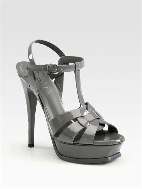 ysl platform sandal laurent ysl tribute patent leather platform sandals