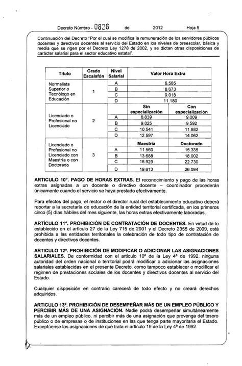 tabla salarial decreto 2277 2015 tabla de salario docentes 1278 2010 tabla salarial