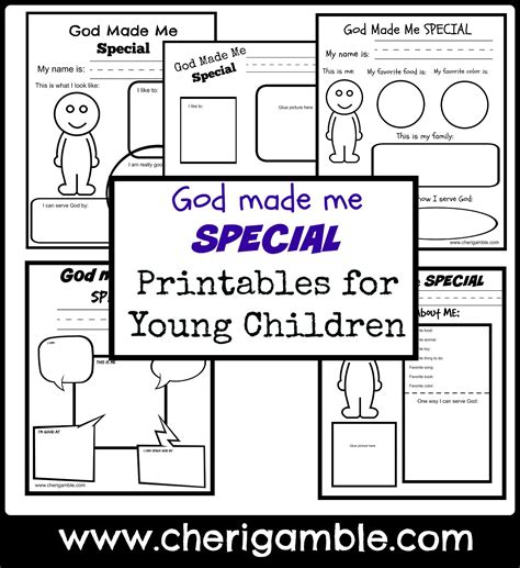 God Made Me Worksheet by Church Ministry Ministry