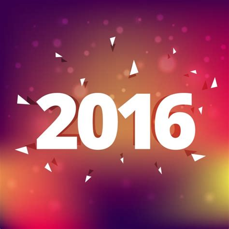 new year 2016 vector free 2016 new year on blurry background vector free