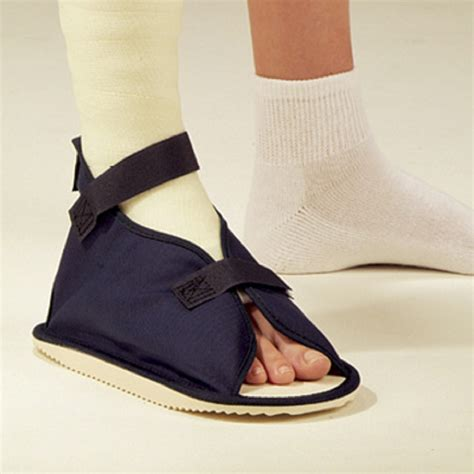 open toe navy canvas cast shoe free shipping