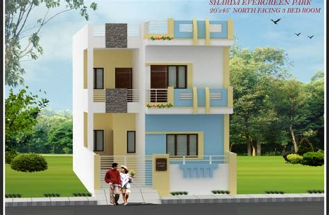 home design 15 x 30 row house size 20 x 45 north facing sharda infra elevations images feet woody nody