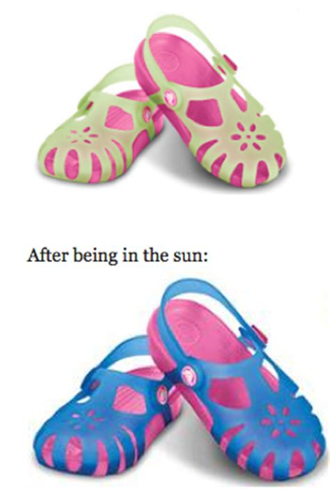 shoes that change color in the sun crocs chameleons shirley shoes change colors in