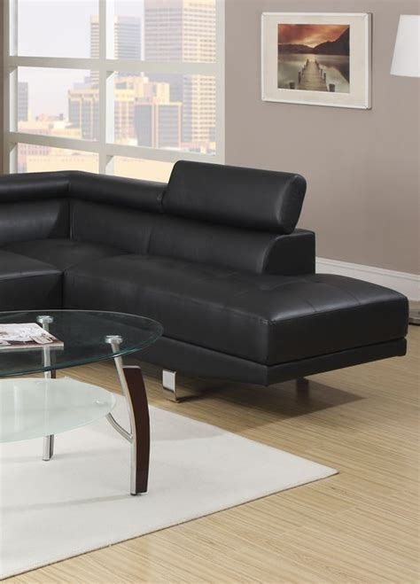 poundex white leather modern sectional sofa modern black leather sectional sofa poundex f7310