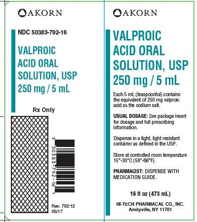 Depakane Syrup 250 Mg 5ml valproic acid hi tech pharmacal co inc fda package insert page 7