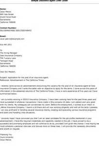 Insurance Agent Cover Letter Sample cover letter for
