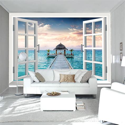 Personalized Bedroom Decor by Aliexpress Buy 3d Window Wall Mural Photo