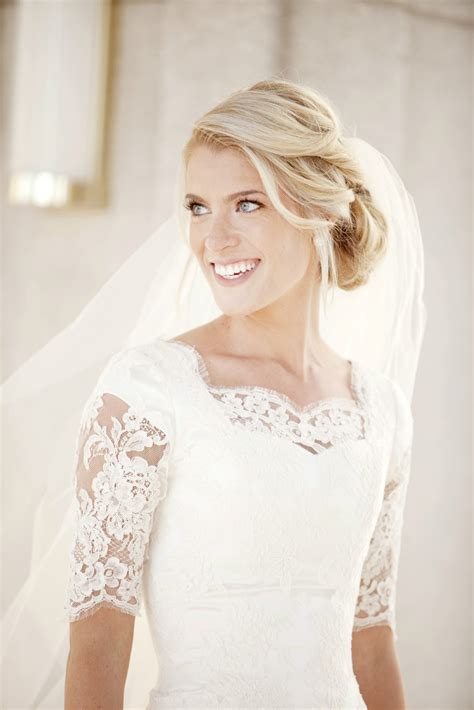 Lace Dress Wedding by Lace Sleeve Modest Wedding Dress