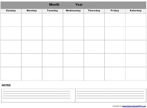 large calendar template large blank monthly calendar template free calendar template