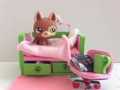how to make a lps bed littlest pet shop diy