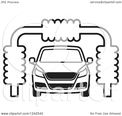 coloring page car wash of a b ack and white automobile in a car wash royalty free