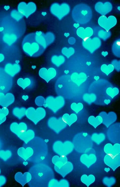 turquoise hearts crosses hearts   bokeh wallpaper blue background wallpapers