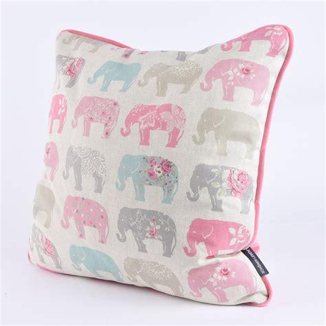 clarke clarke baumwollstoff elefanten pastell rosa