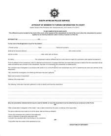 Blank Affidavit Template by Doc 7301000 Blank Affidavit Form Affidavit Form