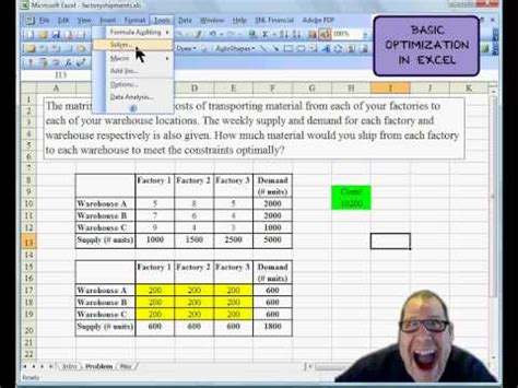 Optimization Modeling With Spreadsheets Excel Solver Lesson 1 Doovi