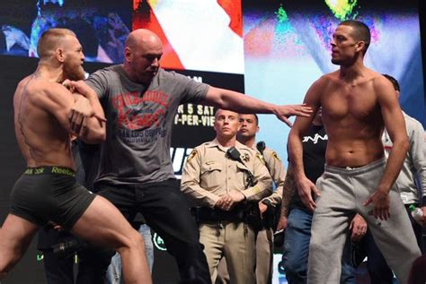 mcgregor tattoo weigh in conor mcgregor slaughters nate diaz at ufc 196 weigh in