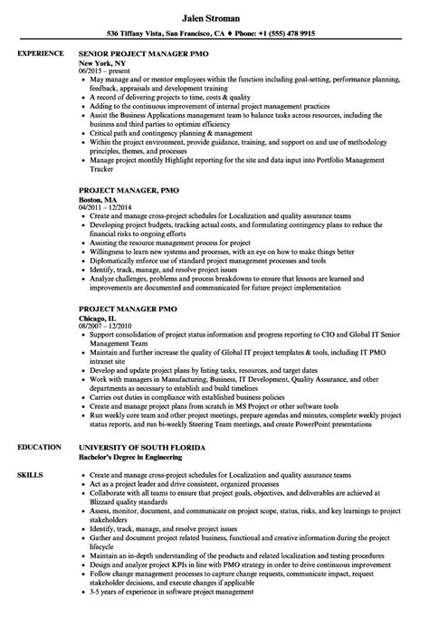 pmo project manager resume sle hermosa director pmo curriculum vitae muestras molde