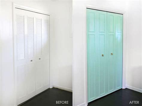 Metal Closet Doors Customize Your Closet Doors With Trim A Beautiful Mess