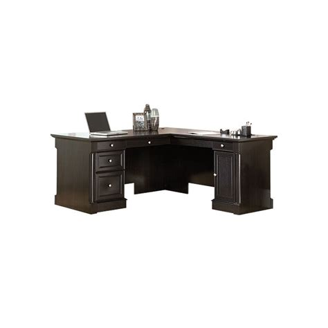 sauder avenue eight l shaped desk wind oak l shaped desk in wind oak 417714