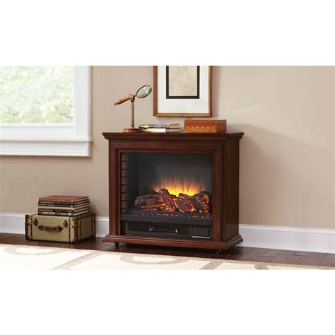 pleasant hearth 31 in mobile electric fireplace
