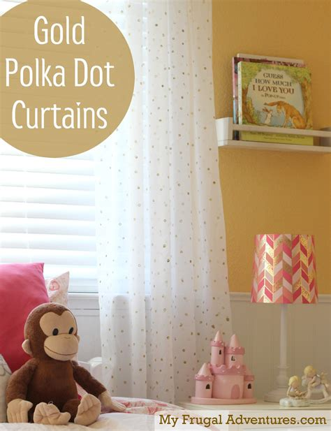 gold polka dot curtains easy diy gold polka dot curtains my frugal adventures