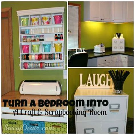 craft room ideas on a budget transforming a bedroom into a craft scrapbooking room