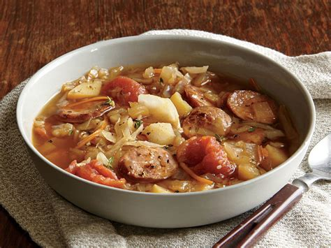 cabbage soup with andouille sausage recipe myrecipes