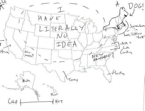 map of us states not labeled hilariously label a map of the united states