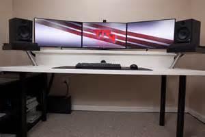 Best Ikea Computer Desk Setup Gorgeous Computer Desk Setup With Black Gaming Computer