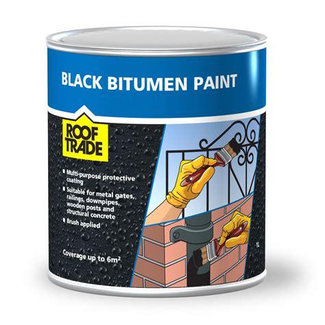 rooftrade black bitumen paint  departments diy  bq