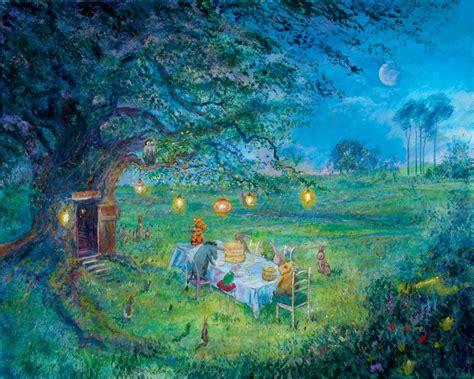 winnie the pooh painting harrison ellenshaw pooh s garden winnie the pooh
