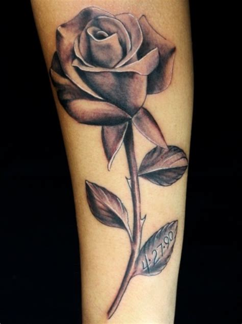 rose tattoo forearm black tattoos designs ideas and meaning tattoos