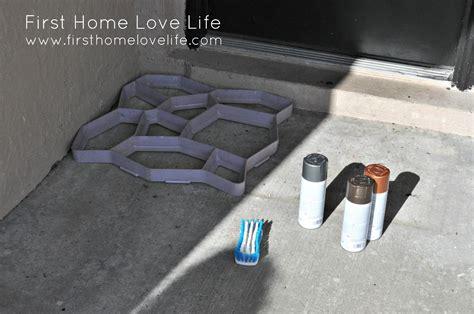 spray paint concrete reeeeeemix front door edition home