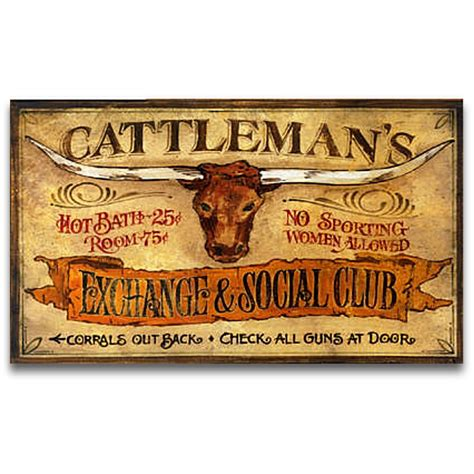 vintage western home decor cattlemans western decor vintage sign 32x20