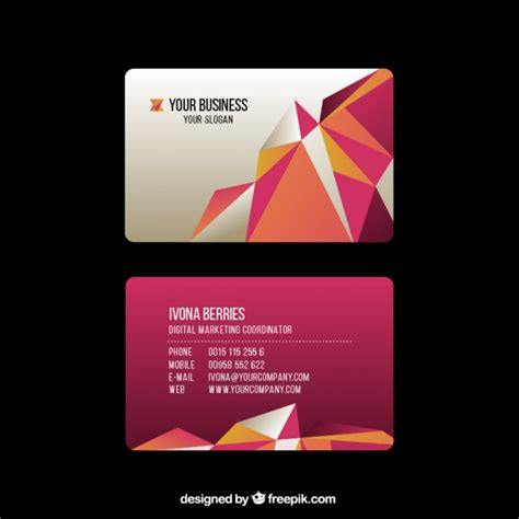 business card template freepik business card template scaricare vettori gratis