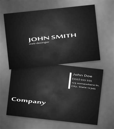 black business cards templates psd 60 absolutely free and black business card templates