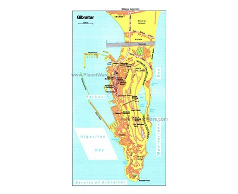 printable road map of gibraltar maps of gibraltar detailed map of gibraltar in english