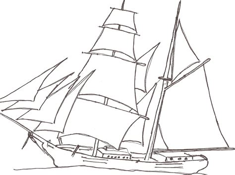 pirate boat drawing easy easy drawing of boat at getdrawings free for