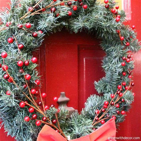 Cheap Wreaths For Front Door Green With Decor How To Dress Up Cheap Garland