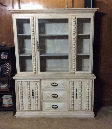 finished china cabinet redone with americana decor chalky finish chalky finish