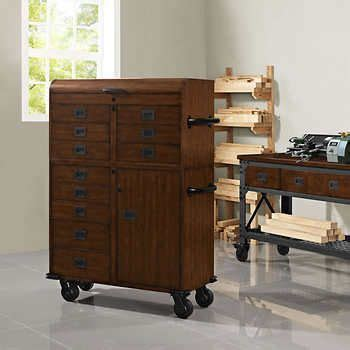 whalen  rolling wood toolchest house   mess wood