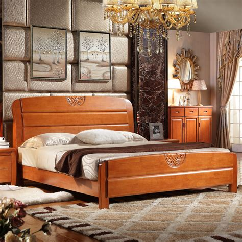 marriage bed chinese style solid oak double bed wood bed marriage bed