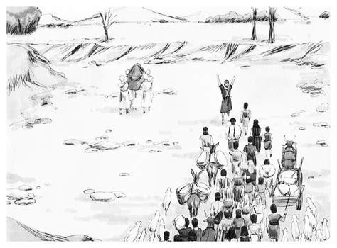 coloring page crossing the jordan river coloring page of israelites crossing the jordan river