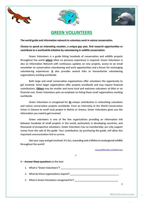 56 free esl green worksheets