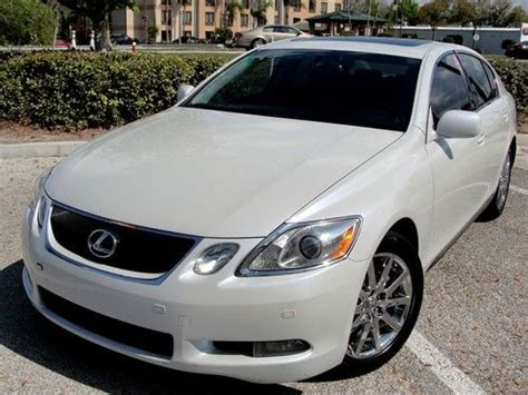 how petrol cars work 2006 lexus gs navigation system find used 2006 lexus gs300 no reserve navigation clean carfax rare pearl white color in