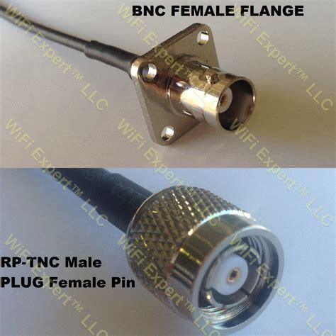 Pigtail Rg58 Rp Tnc To Bnc rg58 bnc flange to rp tnc coaxial rf pigtail cable rf coaxial cables adapters