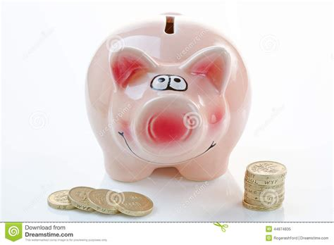 pink piggy bank with money pink piggy bank with money stock photo image 44874835
