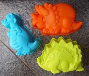 Cetakan Silikon Kue Puding Dino Family lexnfant cetakan makanan asibayi