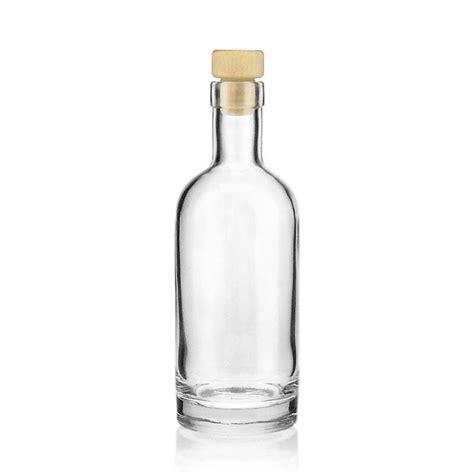 ml clear glass bottle linea uno world  bottlescouk