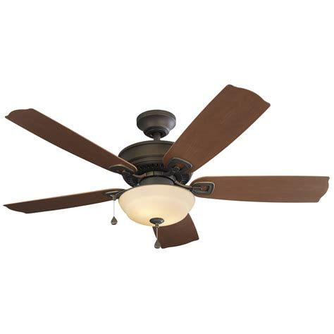 Outside Ceiling Fans With Lights Shop Harbor Echolake 52 In Rubbed Bronze Indoor Outdoor Downrod Or Mount